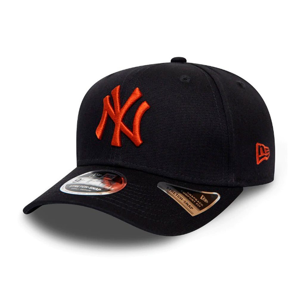 New Era MLB New York NY Yankees 9Fifty Stretch Snap Snapback Navy Orange Blå 12285380