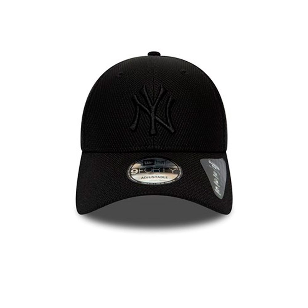 New Era MLB NY New York Yankees 9Forty Diamond Era Adjustable Black on Black Sort