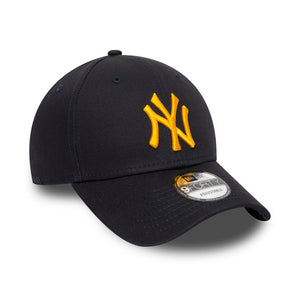 New Era MLB New York NY Yankees 9Forty Essential Flexfit Navy Yellow Blå Gul 12380591