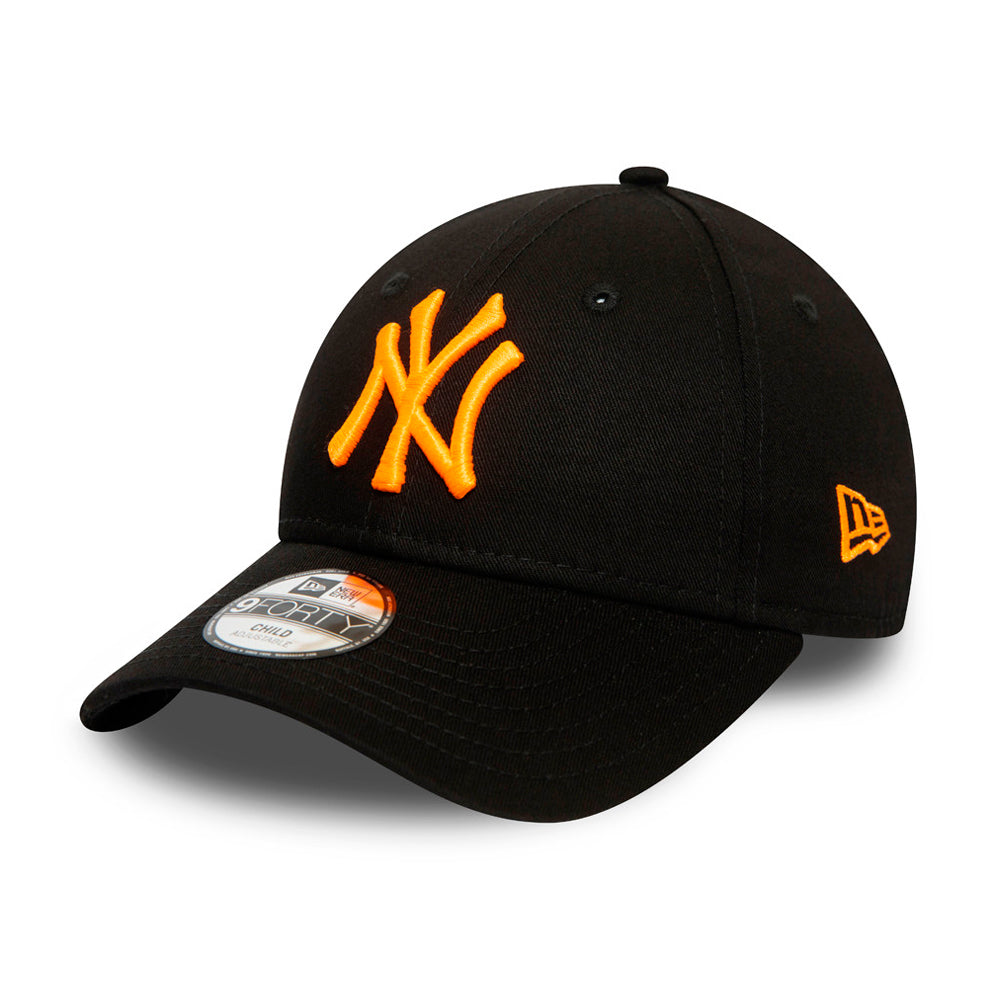 New Era MLB New York NY Yankees 9Forty Kids Snapback Black Neon Orange Sort Orange 12381093