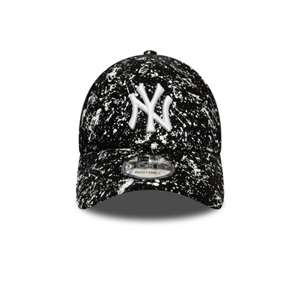 New Era MLB New York NY Yankees 9Forty Painted Adjustable Black White Sort Hvid