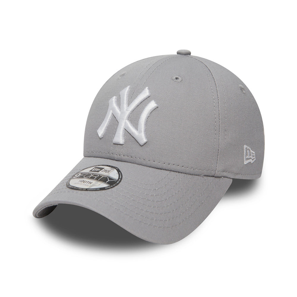 New Era NY New York Yankees 9Forty Adjustable Justerbar Youth Kids Børn Grey Grå