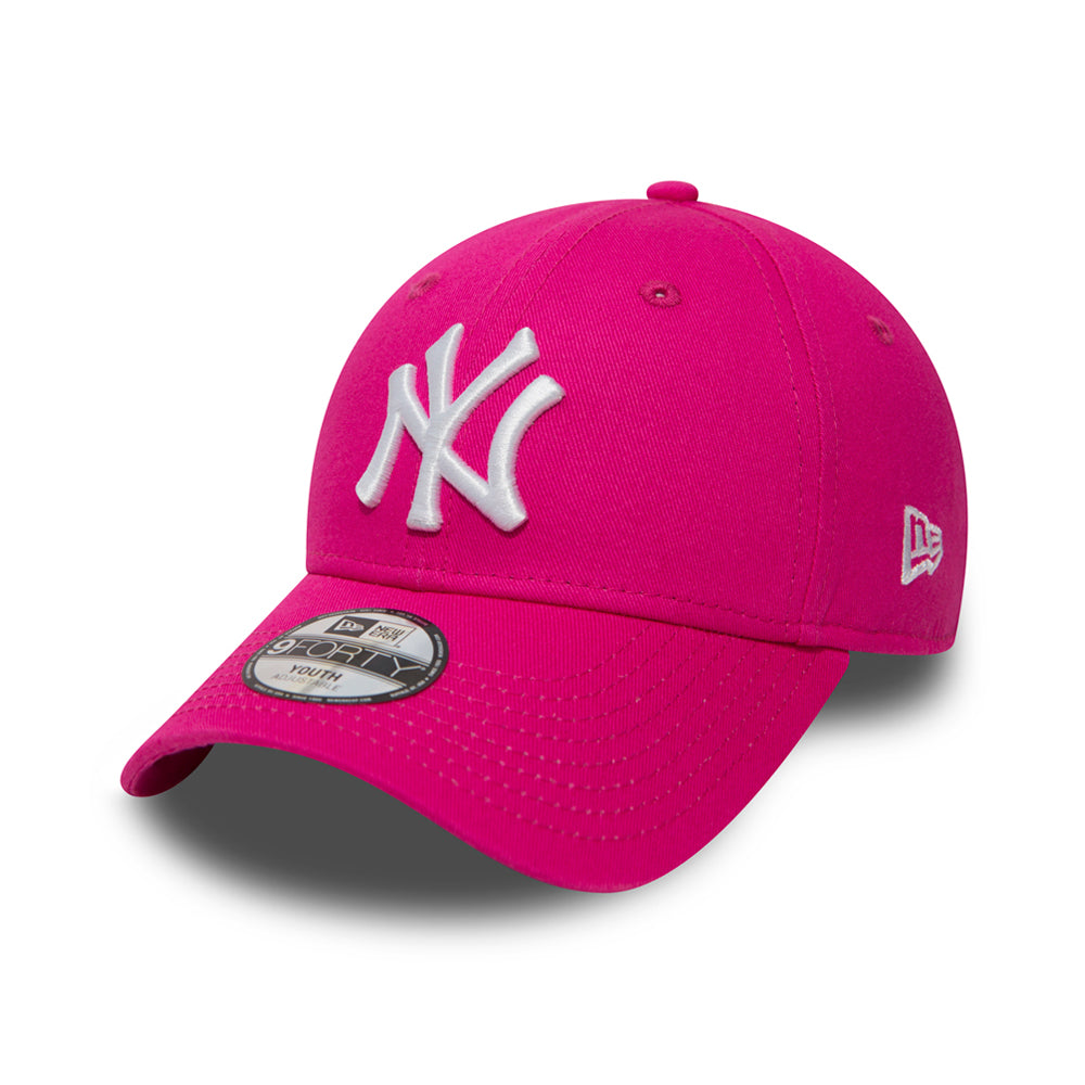 New Era NY New York Yankees 9Forty Youth Justerbar Adjustable Kids Børn Pink Lyserød