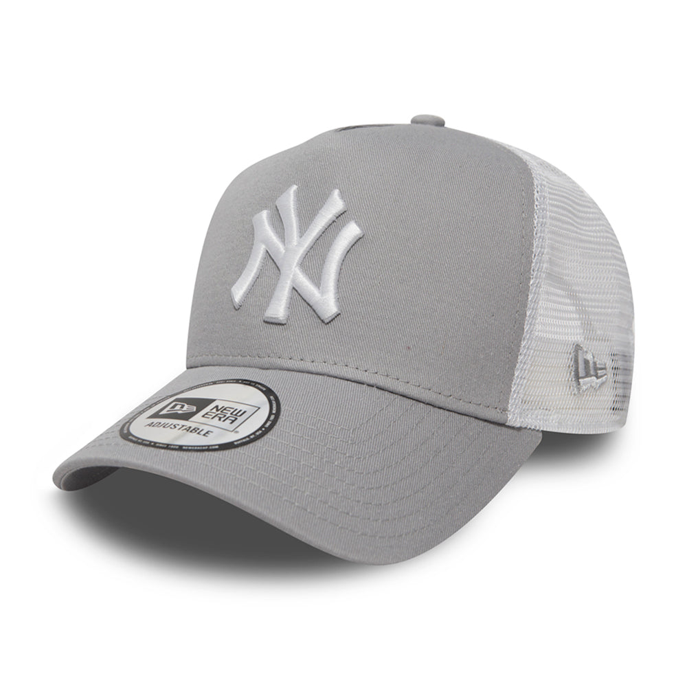 New Era NY Yankees Clean 2 Trucker Snapback Grey White Grå Hvid