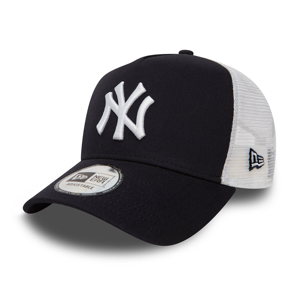 New Era NY Yankees Clean 2 Trucker Snapback Navy White Blå Hvid