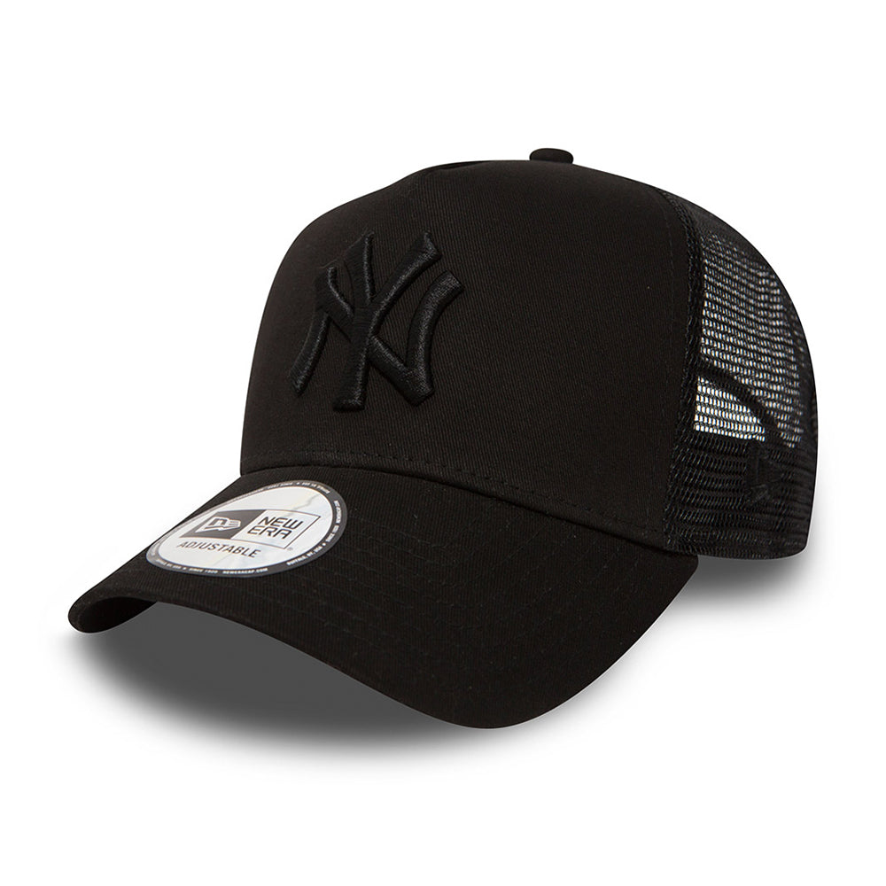 New Era NY Yankees Clean Trucker Snapback Black Black Sort Sort