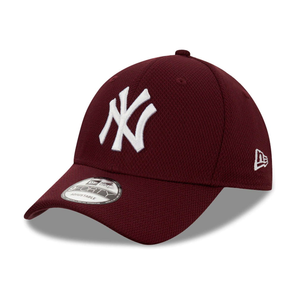 New Era MLB New York Yankees Diamond Era 9Forty Adjustable Maroon Rød 12523905