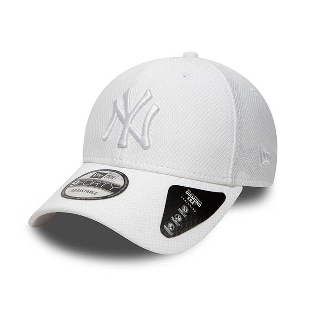 New Era NY New York Yankees Diamond Era 9Forty Justerbar White Hvid