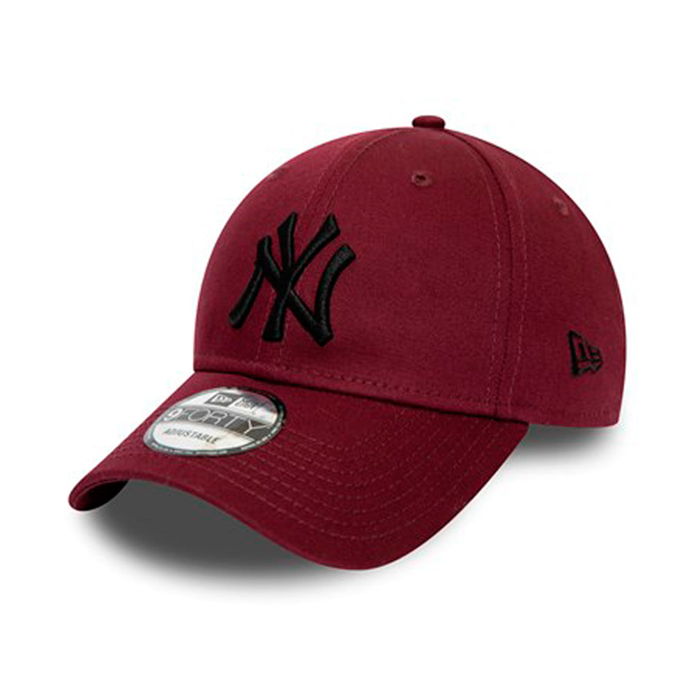 New Era NY Yankees  Essential 9Forty Adjustable Maroon Rød Sort