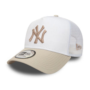 New Era NY Yankees Essential Trucker Snapback White Stone Hvid Sten