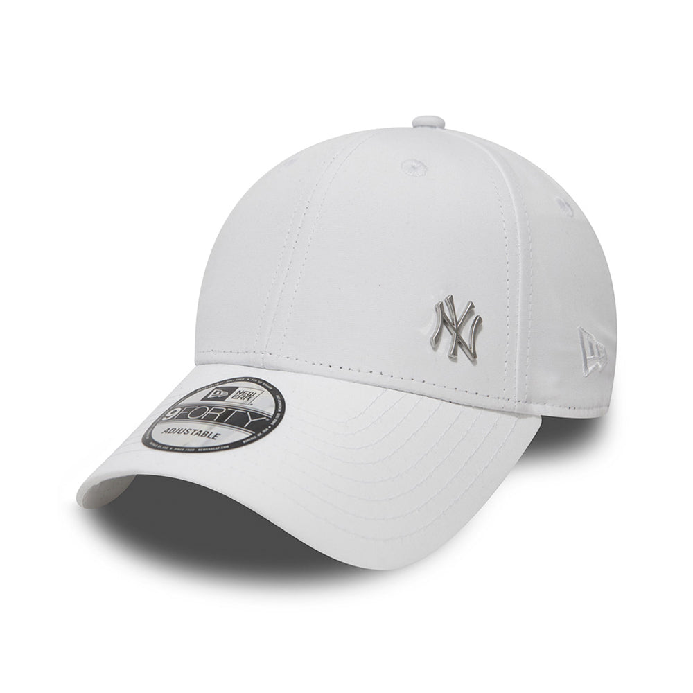 New Era NY Yankees Flawless 9Forty Adjustable Justerbar White Hvid