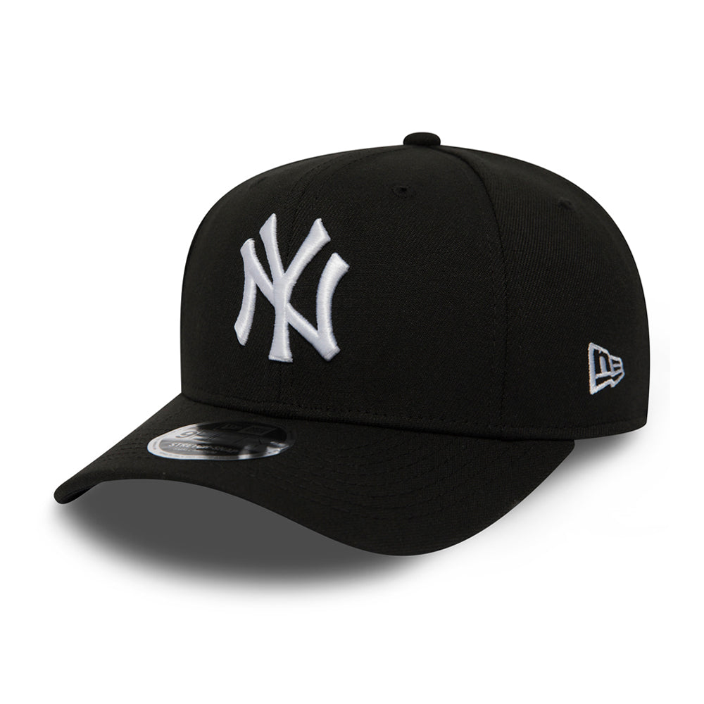 New Era New York Yankees Stretch Snap 9Fifty Snapback Black White Sort Hvid
