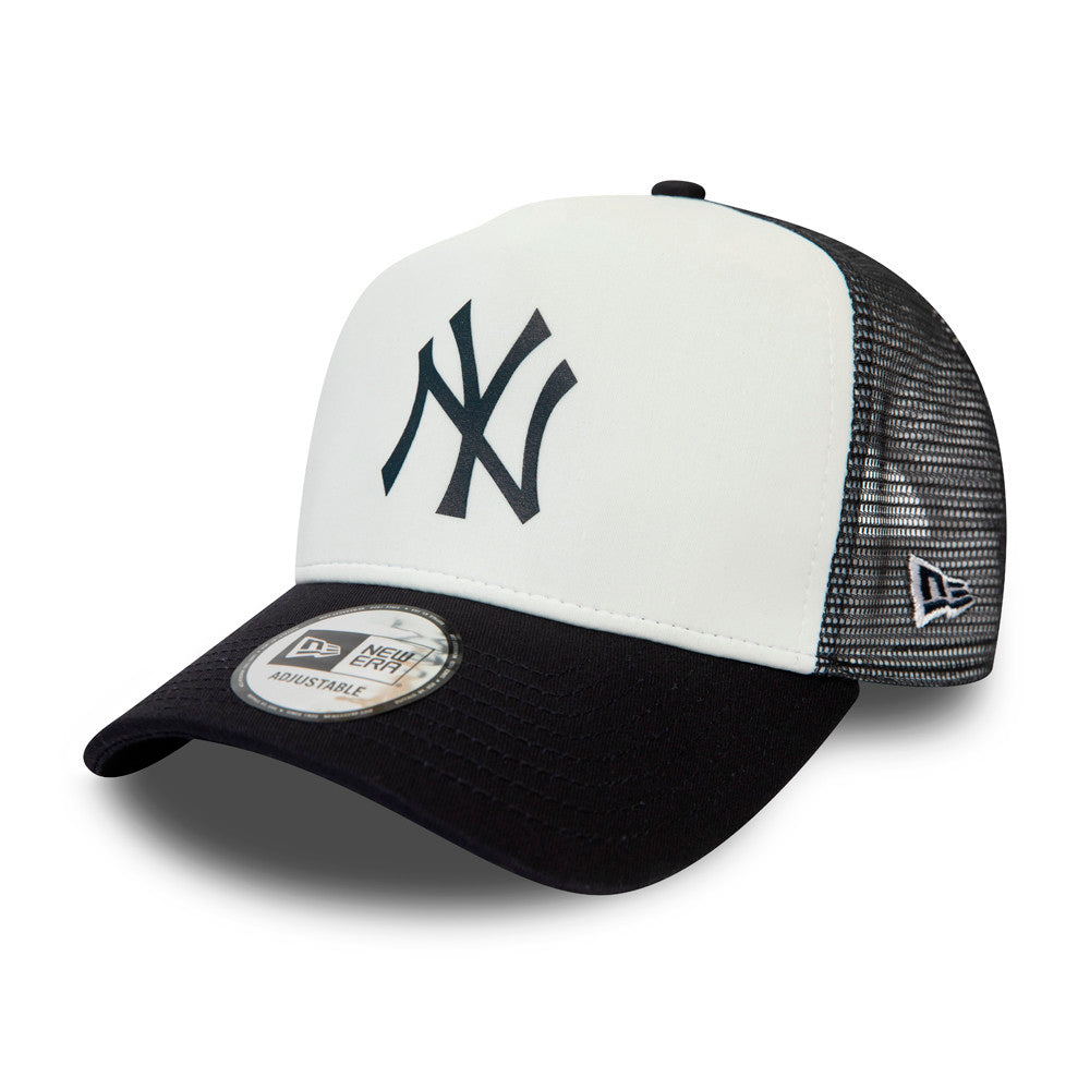 New Era MLB New York NY Yankees Team Colour Block Trucker Snapback White Black Hvid Sort 12380796