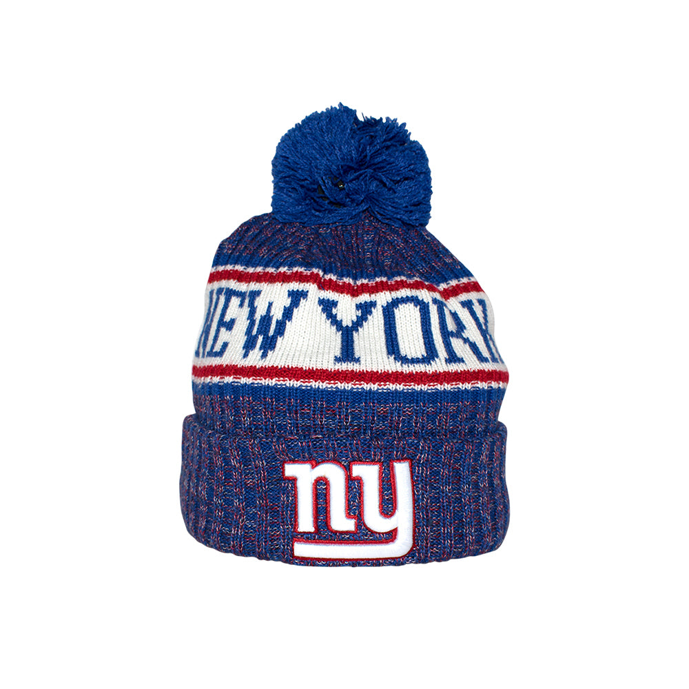New Era New York Giants Sport Knit Beanie Blue Pom Blå Pom