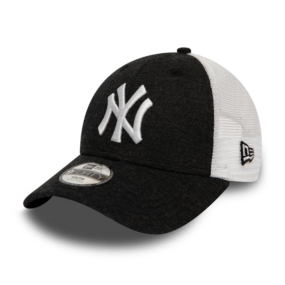 New Era New York Yankees 9Forty Kids Trucker Adjustable Black White Sort Hvid