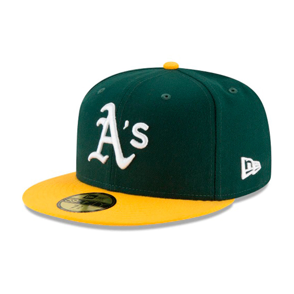 New Era MLB Oakland Athletics 59Fifty Authentic Fitted Green Yellow White Grøn Gul Hvid