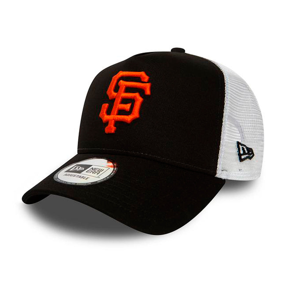New Era MLB San Francisco Giants Essential Trucker Snapback Black White Sort Hvid