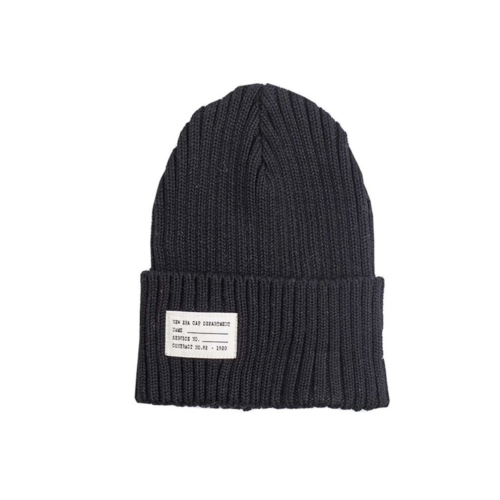 New Era Watch Knit Beanie Fold Hue Black Sort