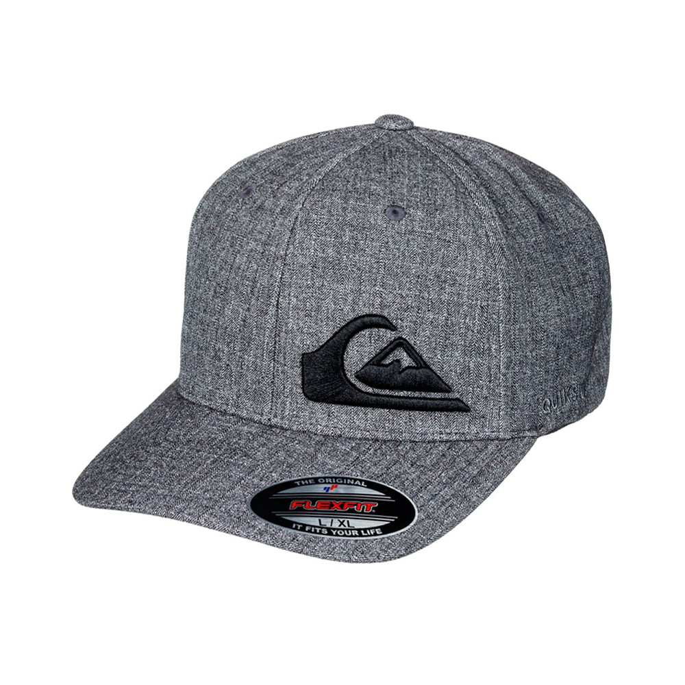 Quiksilver Final Flexfit Charcoal Grå Sort
