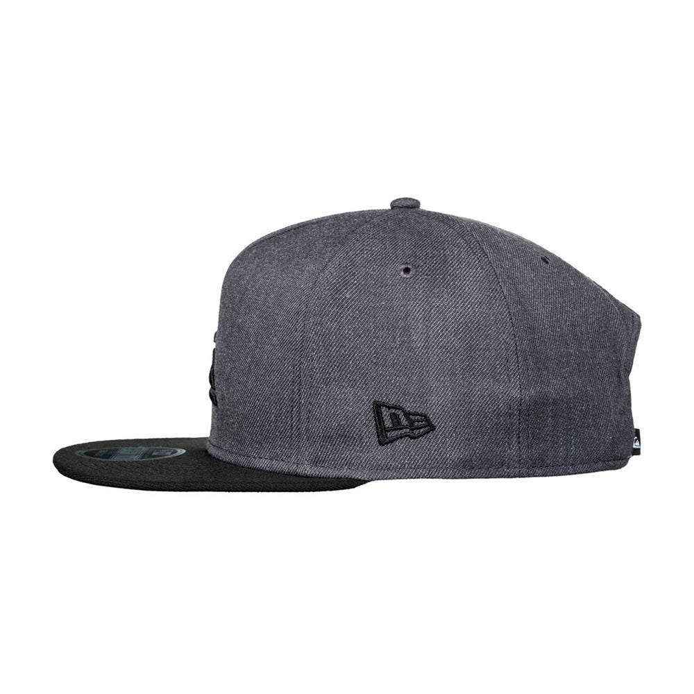 Quiksilver Stuckles Snap Snapback Charcoal Heather Black Grå Sort