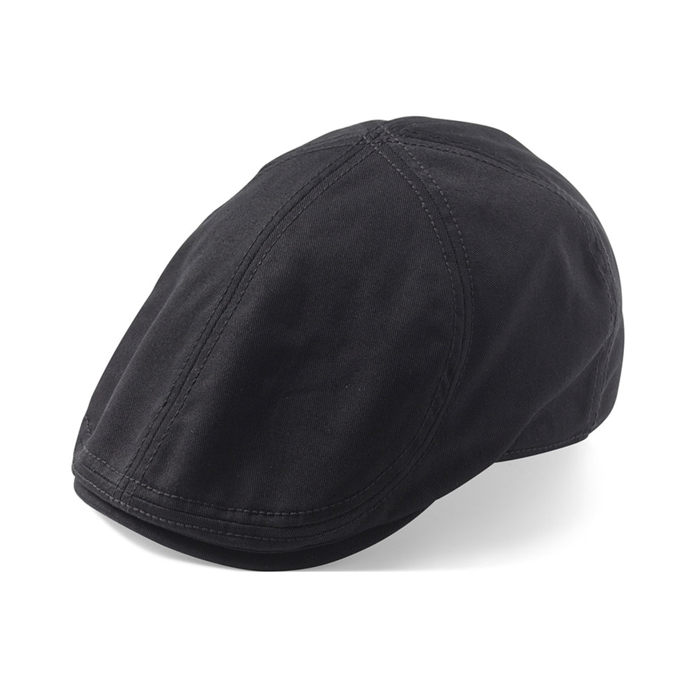 State Of Wow Desmond Duckbill Flat Cap Black Sort