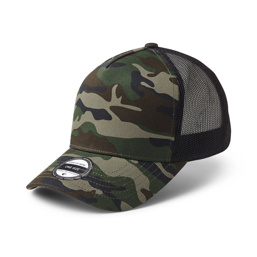 State Of Wow Reed Baseball Trucker Snapback Camo Black Sort