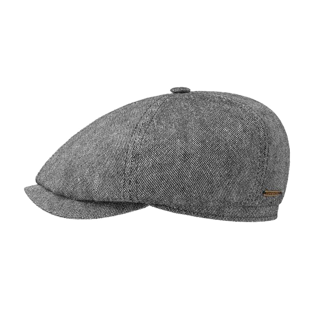 Stetson 6-Panel Cap Linen Cotton Sixpence Flat Grey Grå