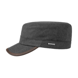 Stetson Canvas Army Cap Adjustable Black Sort