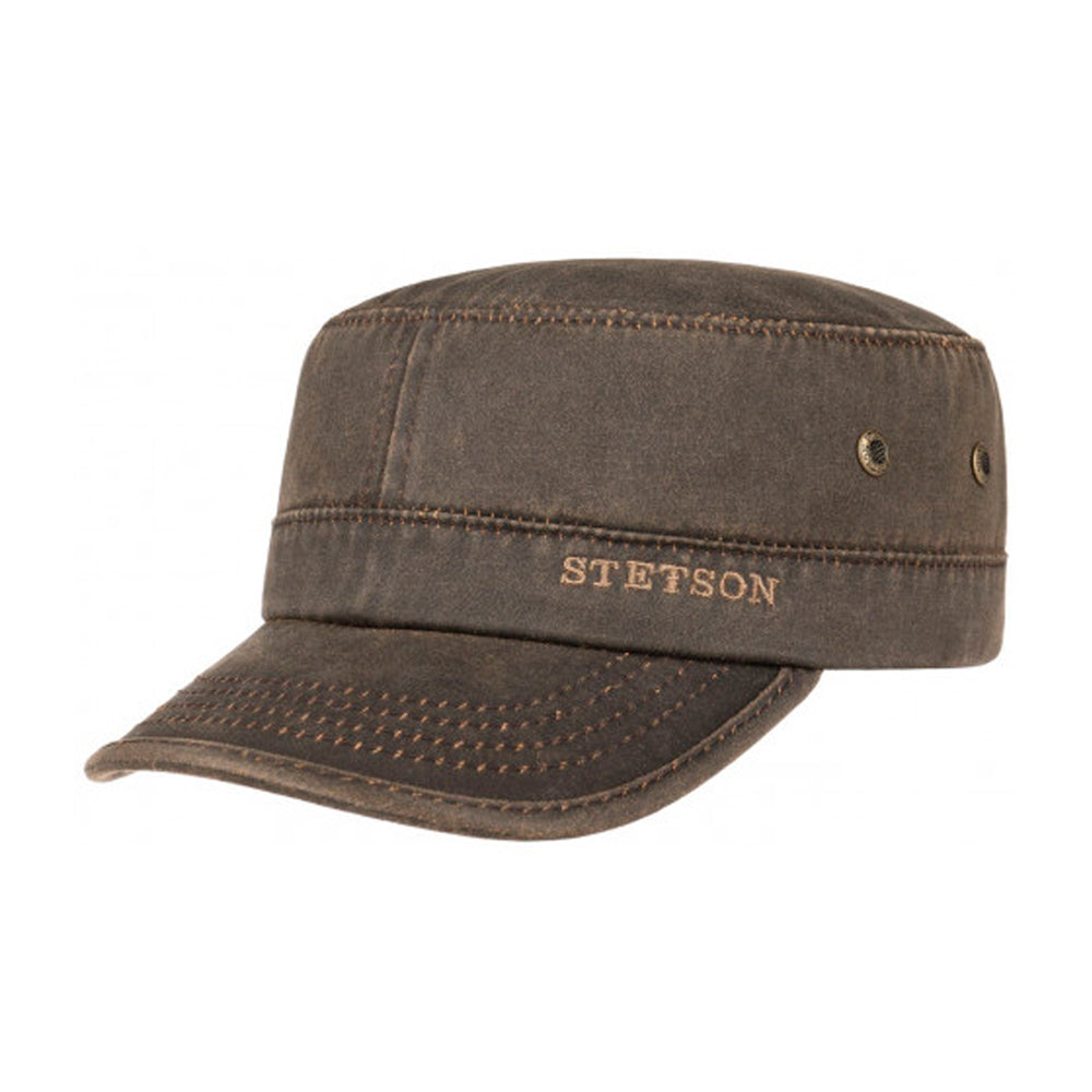 Stetson Datto Army Cap Adjustable Brown Brun