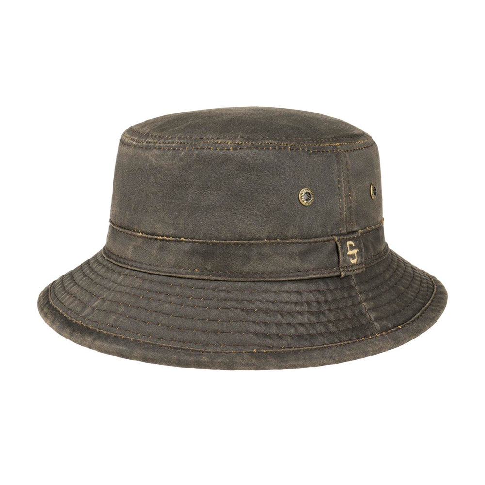 Stetson Drasco Cloth Hat Bucket Hat  Brown Brun
