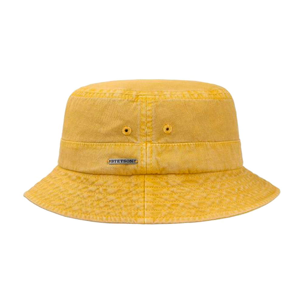 Stetson Dyed Cotton Bucket Hat Yellow Gul