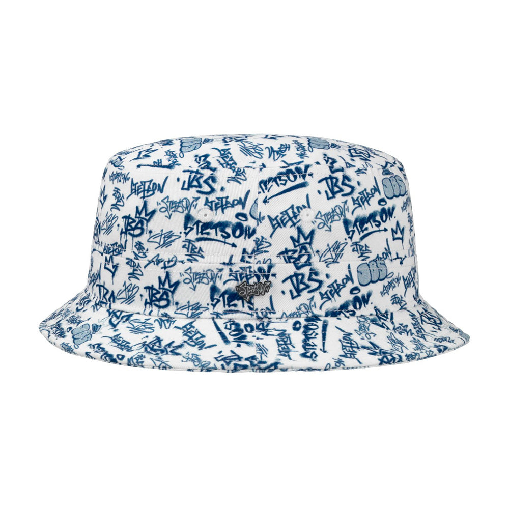 Stetson JBS Graffiti Bucket Hat Blue Blå