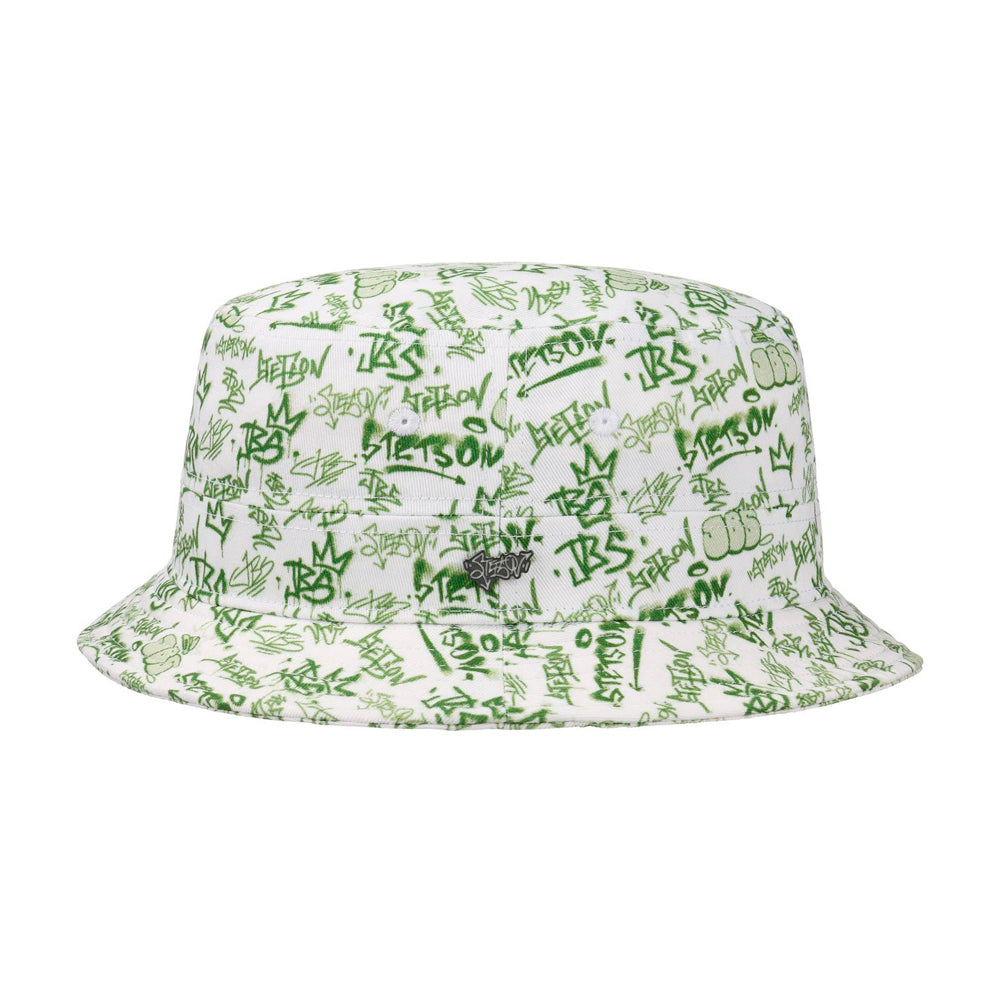 Stetson JBS Graffiti Bucket Hat Green Grøn