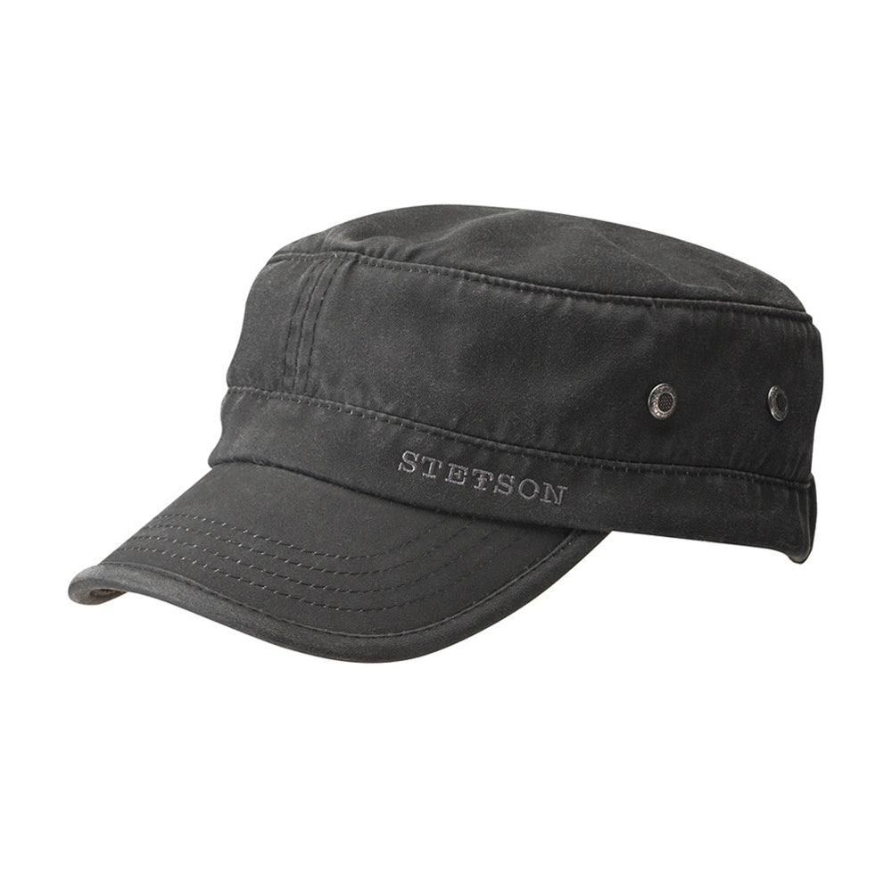 Stetson Army Cap CO/PE Adjustable Justerbar Black Sort