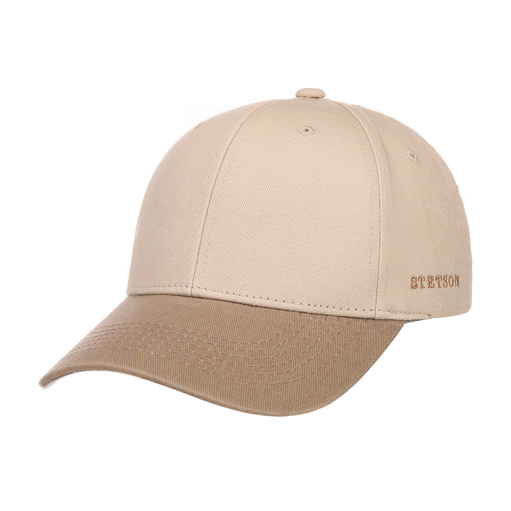 Stetson Baseball Cap Adjustable Beige Brown Brun