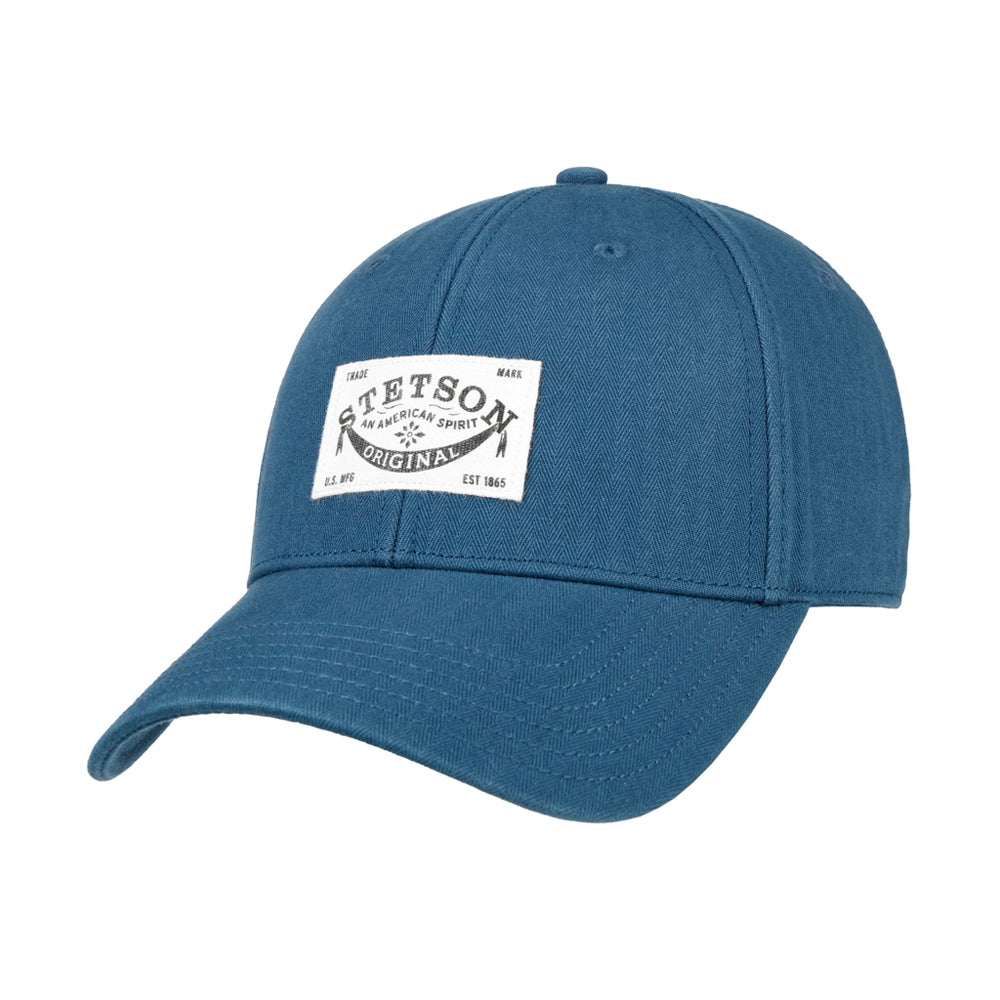 Stetson Classic Cotton Cap Adjustable Navy Blå 7721103-2