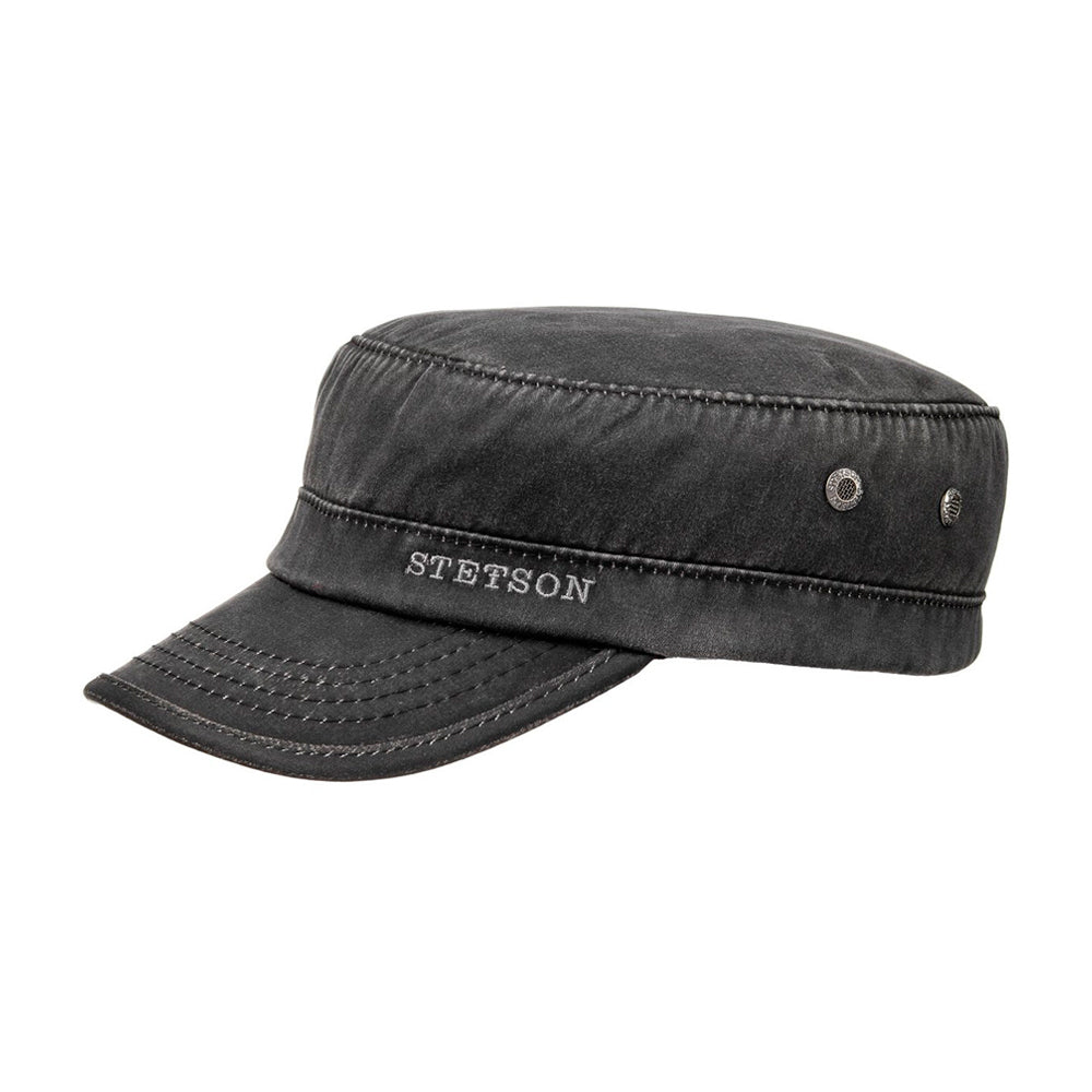 Stetson Datto Winter Army Cap Flexfit Fitted Black Sort