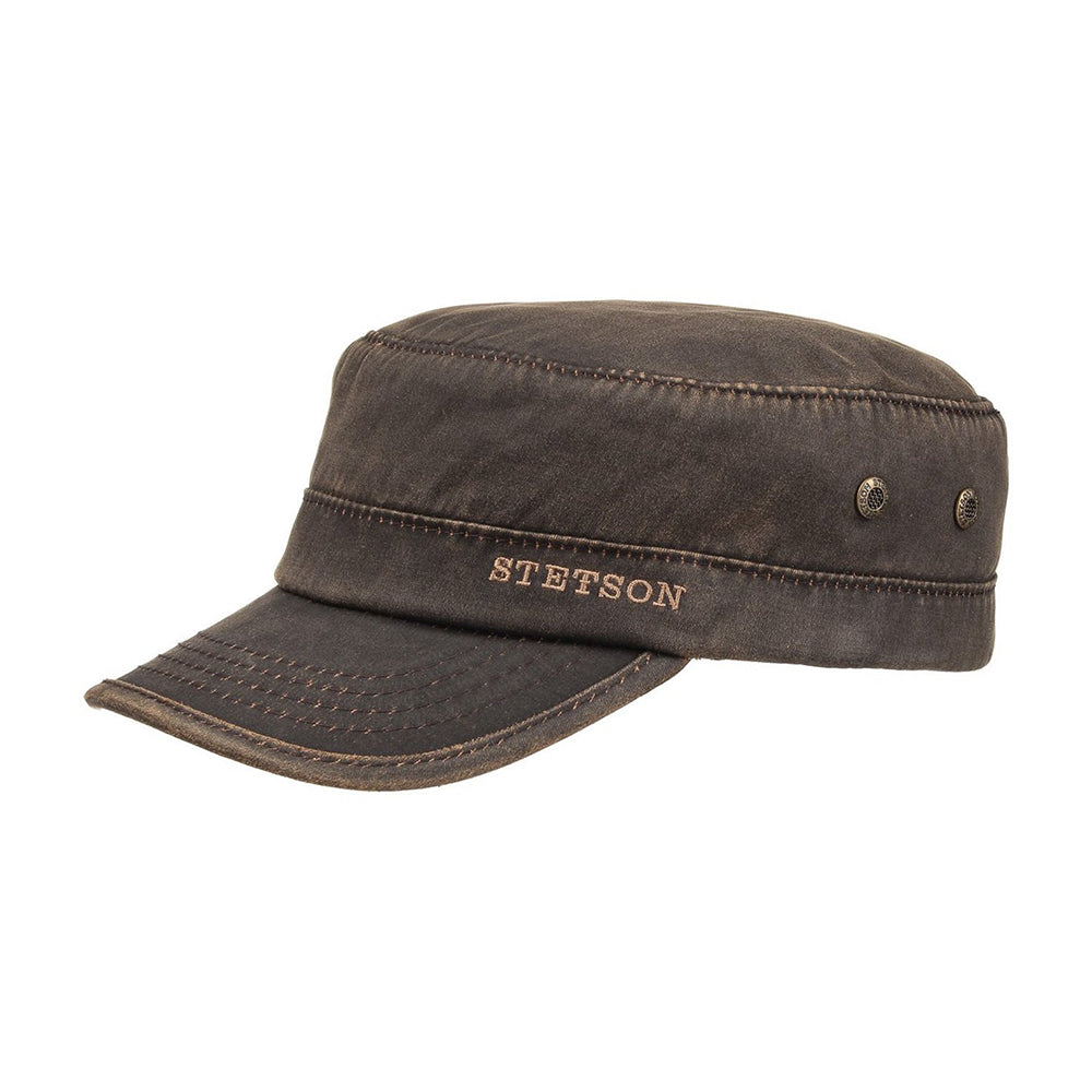 Stetson Datto Winter Army Cap Flexfit Fitted Brown Brun
