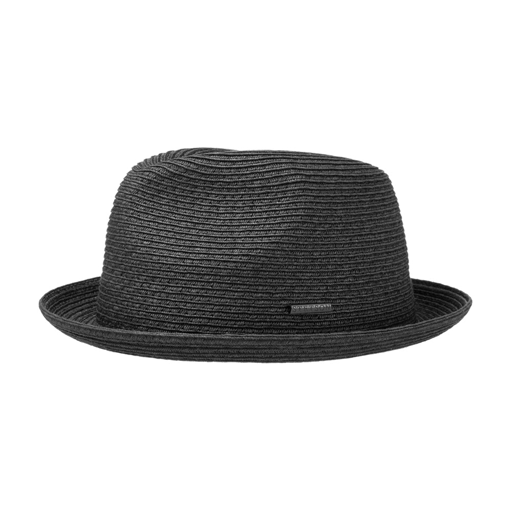 Stetson Dawson Player Hat Straw Hat Strå Hat Black Sort