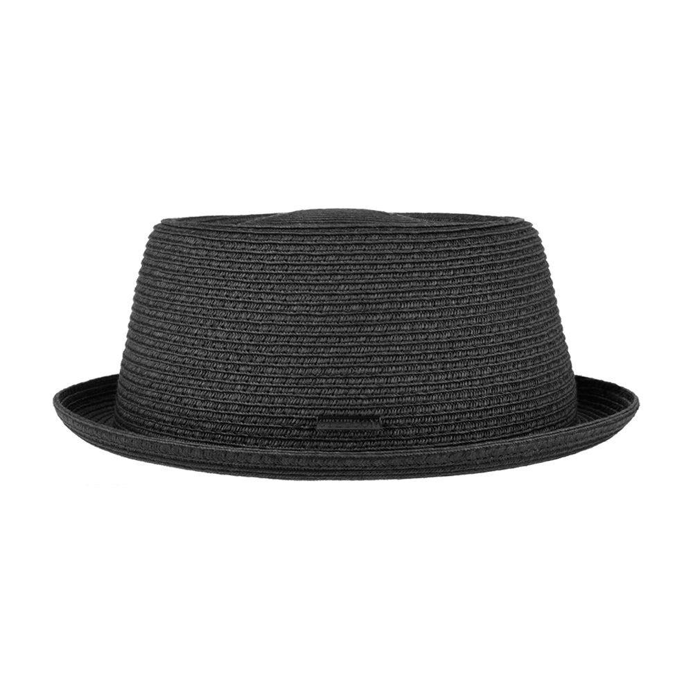 Stetson Dawson Pork Pie Toyo Straw Hat Strå Hat Black Sort