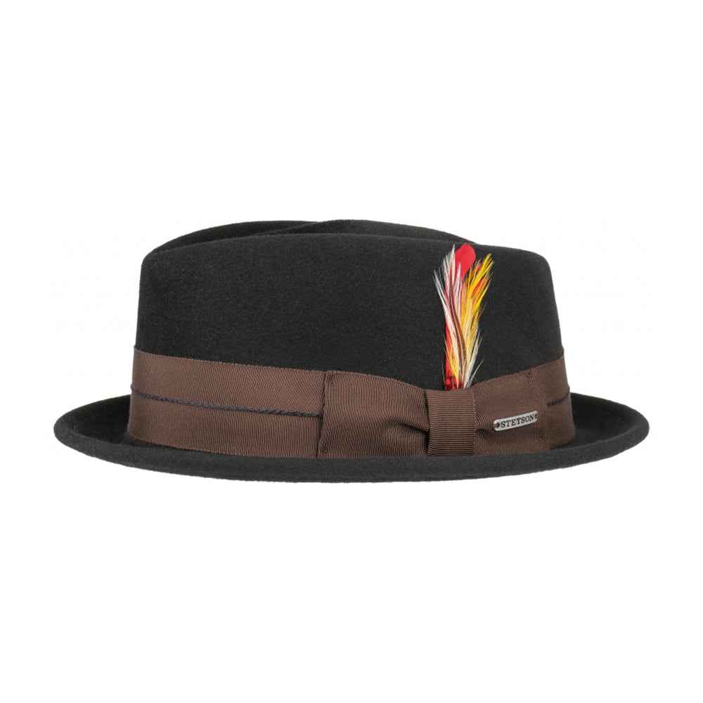 Stetson Diamond Vitafelt Felt Hat Black Sort