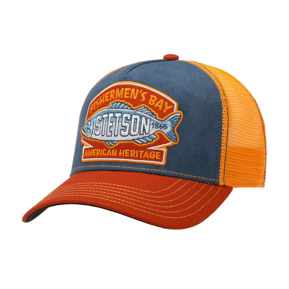 Stetson Fishermen´s Bay Trucker Snapback Navy Orange Blå 7756106-28