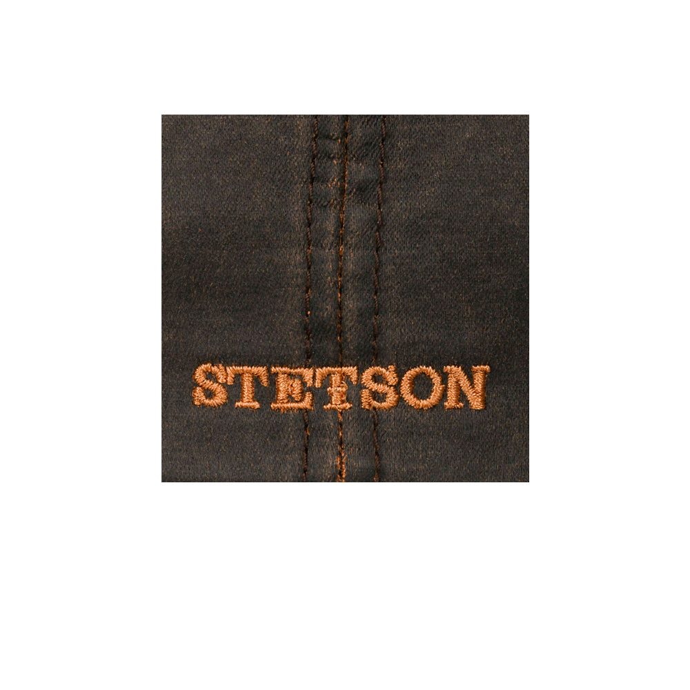 Stetson Hatteras Old Cotton Newsboy Sixpence Flat Cap Brown Brun 6841102-6