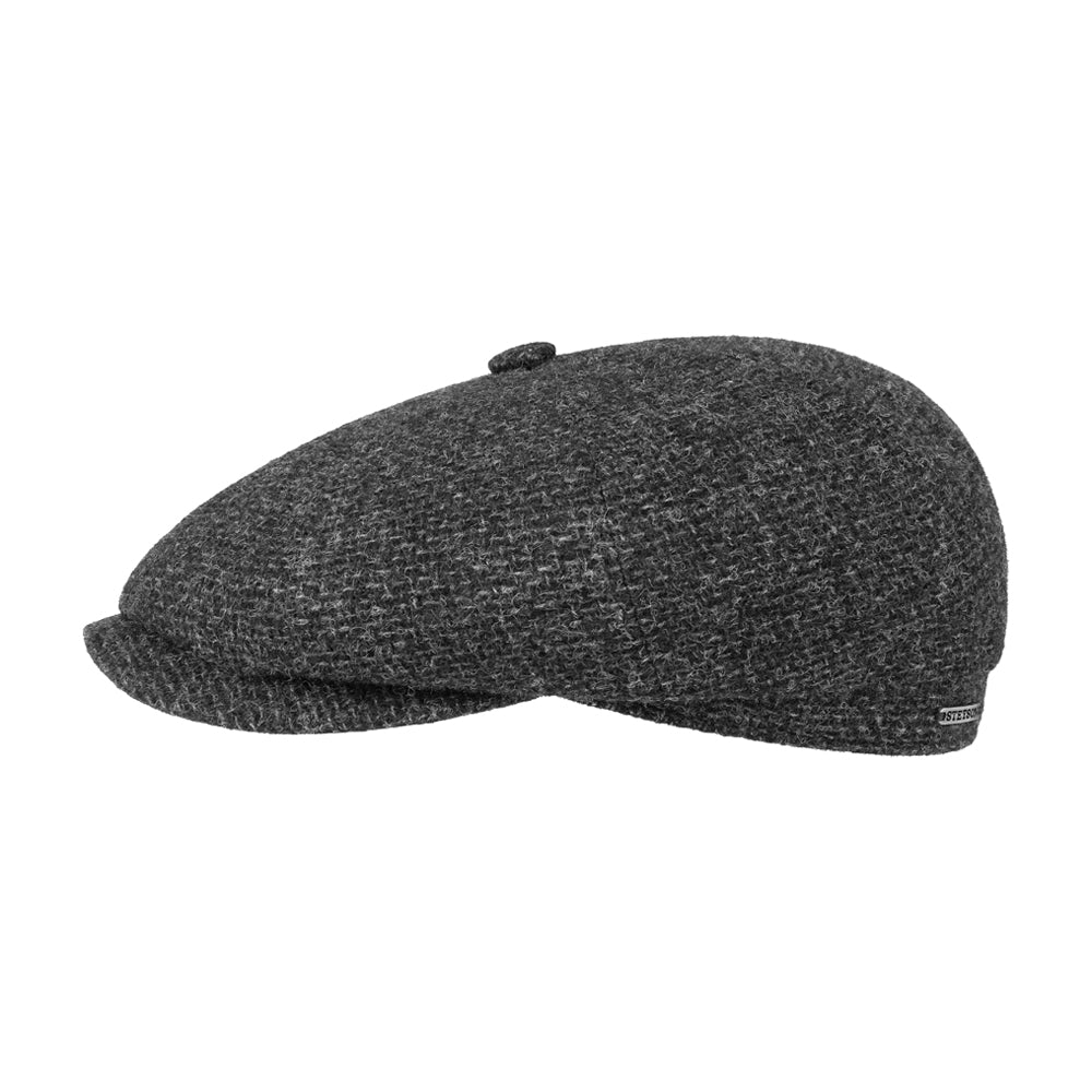 Stetson Hatteras Wool Sixpence Flat Cap Grey Grå Article no.: 6840106