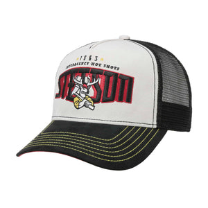Stetson Hot Shots Trucker Snapback Black Grey Sort Grå 7756107-1