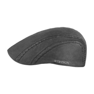 Stetson Ivy Cap CO/PE EF Earlaps Sixpence Flat Cap Black Sort 6161106-1