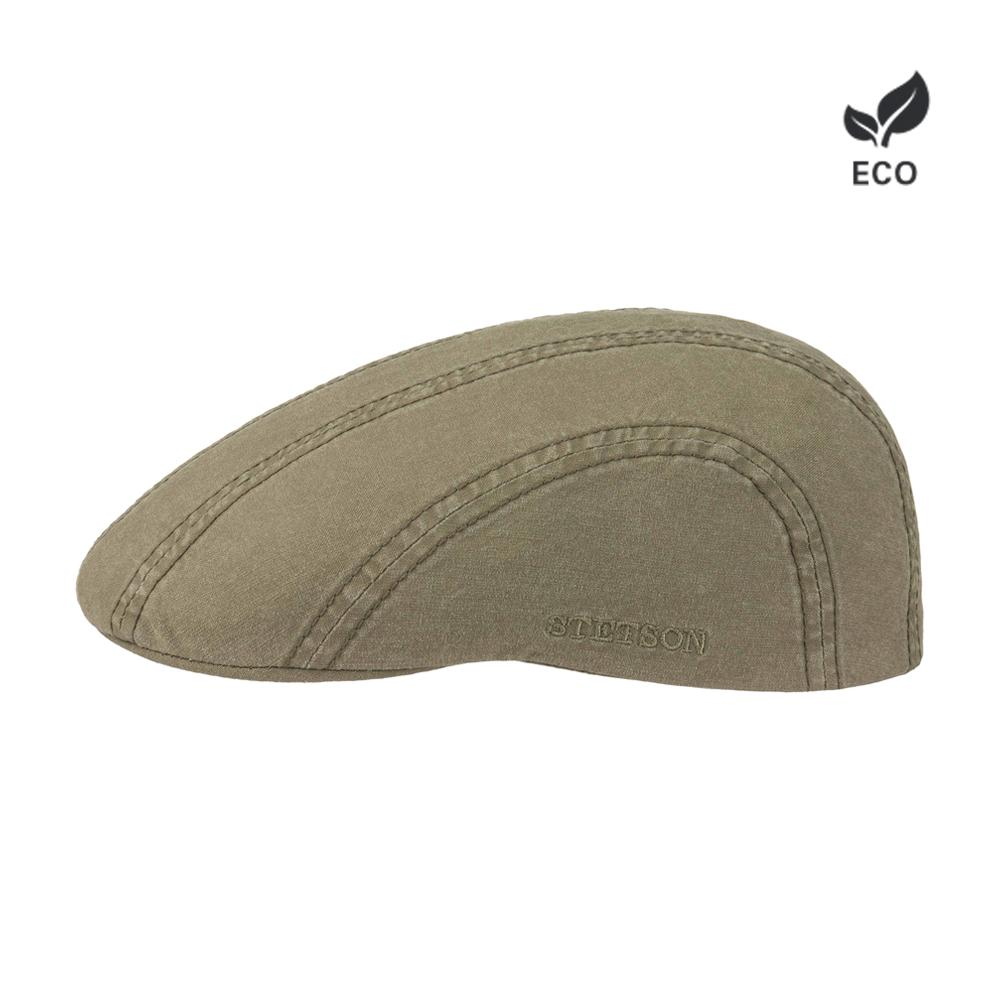 Stetson Ivy Cap Delave Sixpence Flat Cap Olive Green Grøn 6121103 - 61