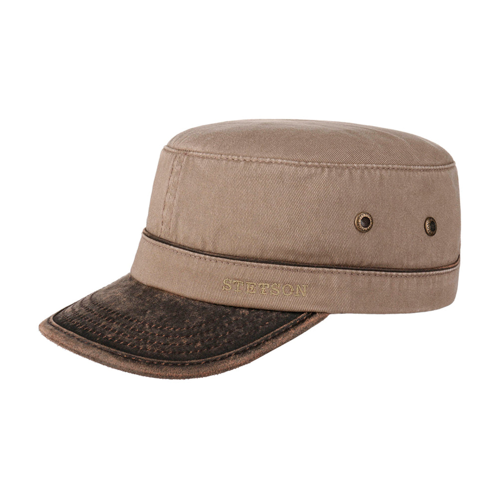 Stetson Katonah Army Cap Adjustable Light Brun Lysebrun Brun