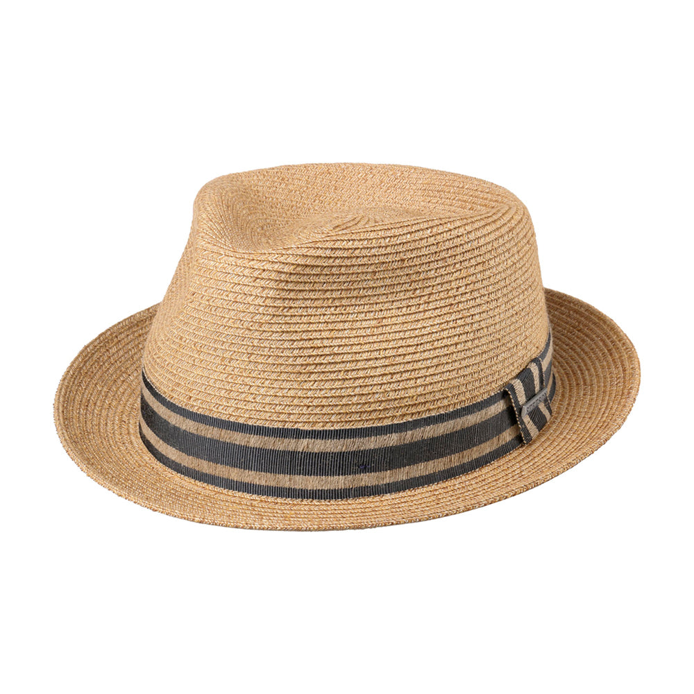 Stetson Korello Linen Mix Straw Hat Beige
