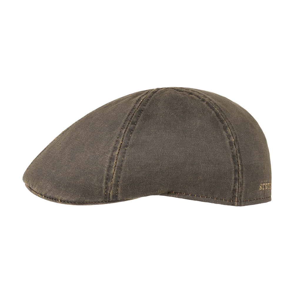 Stetson Level Gatsby Sixpence Flat Cap Brown Brun